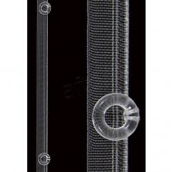 Kruvaze perde şeridi 1 cm şeffaf halkalı